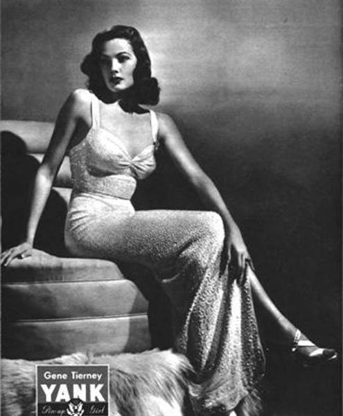 Gene tierney pin-up