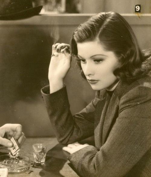 Lucy smoking